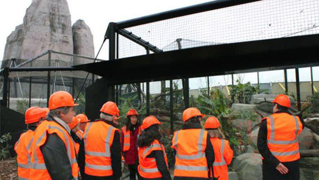 Visite des communes voisines, du zoo encore en travaux © Aurore Chatras