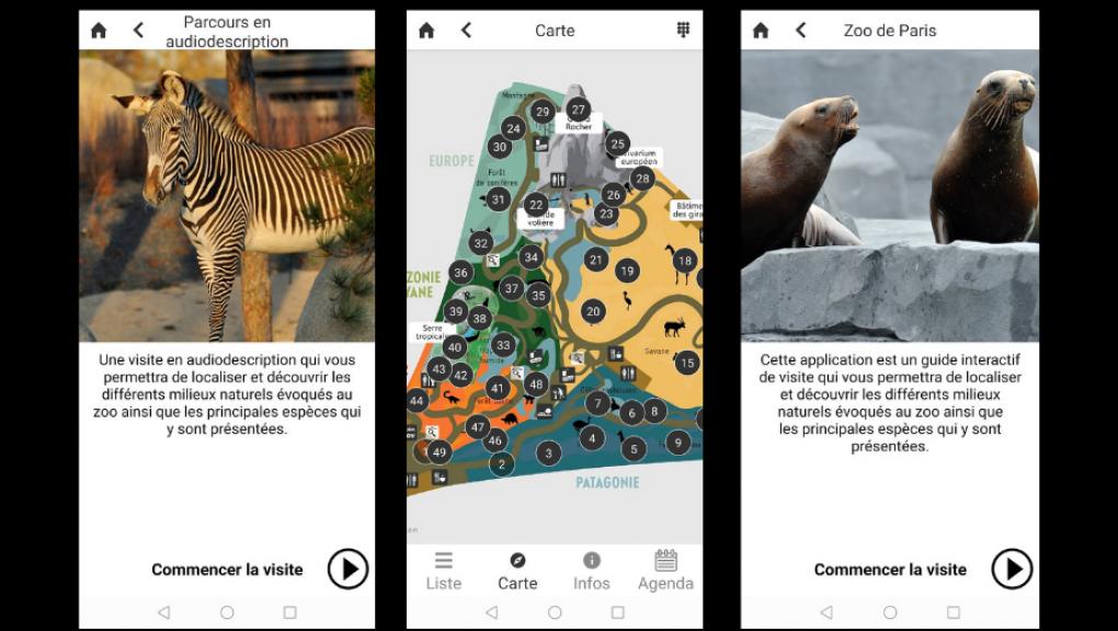 Application mobile du Parc Zoologique de Paris