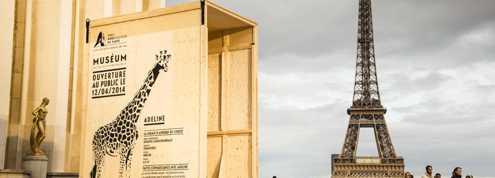 Esplanade des droits de l'homme, Adeline la girafe © Ubi bene