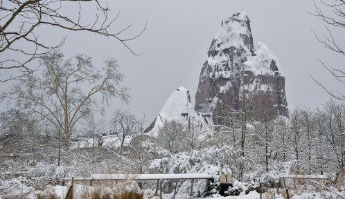 Le Parc zoologique de Paris sous la neige © MNHN - F.-G. Grandin