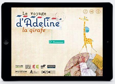 Application Le voyage d'Adeline la girafe © Benjamin Gibeaux